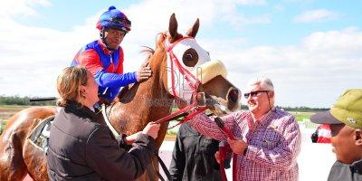 R1 Sharon Kotzen Louie Mxothwa Princess Blitz- 17 May 2019-Fairview Racecourse-PHP_9919