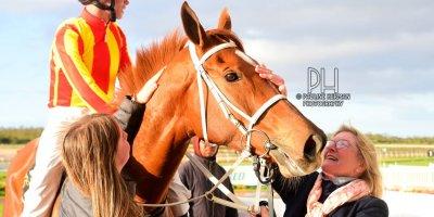 R7 Yvette Bremner Ryan Munger Maverick Girl EC Paddock Stakes- 19 July 2019-Fairview Racecourse-1-PHP_1250