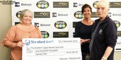 Fairview Racecourse - EC Horse Care Unit Cheque Handover01 November 2019-1-PHP_6169